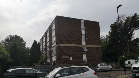 The image shows how Pevensey Court's rectangular shape has similarities to the shipping containers used to build Hope Gardens